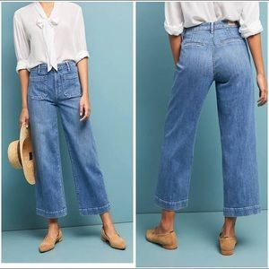 Anthropologie Paige Nellie High-Rise Culotte Jeans